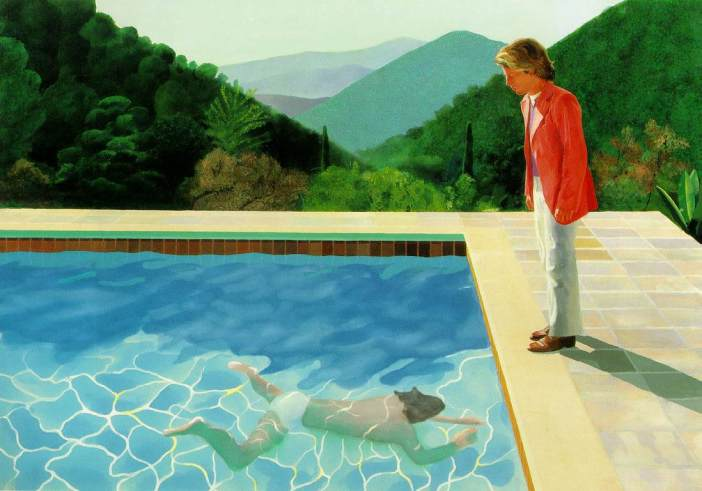 Hockney peter by pool