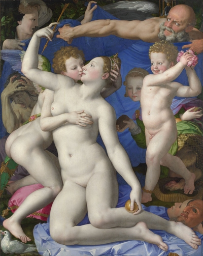 Bronzino, 1503 - 1572 An Allegory with Venus and Cupid about 1545 Oil on wood, 146.1 x 116.2 cm Bought, 1860 NG651 http://www.nationalgallery.org.uk/paintings/NG651