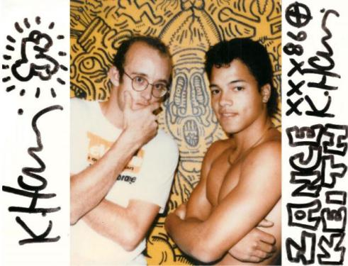 Keith Haring and Paulee Zance, 1986, by Maripol ©Maripol