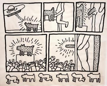'Untitled' (Glowing Dog), January 16, 1981 ©Keith Haring Foundation