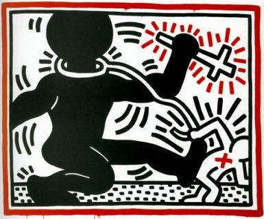 'untitled' (Free South Africa), 1984 ©Keith Haring Foundation