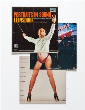 Christian Marclay, (Body Mix Series) , 1991 - album covers, thread