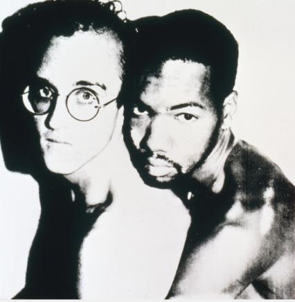 Keith Haring and Juan Dubose, 1983 ©AWF