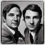 François Truffaut and Jean-Pierre Léaud, 1971 ©Richard Avedon Foundation