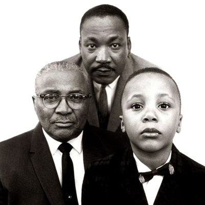 Martin Luther King Jr. Father and son, 1963 ©Richard Avedon Foundation