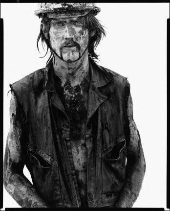 Richard Avedon, Tom Stroud, oil field worker, Velma, Oklahoma, June 12, 1980 @Richard Avedon Foundation